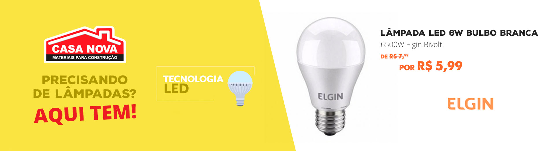 Full Banner - Lampada Led Elgin