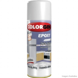 Tinta Spray Epoxi Branco Brilhante 350ml Colorgin 852
