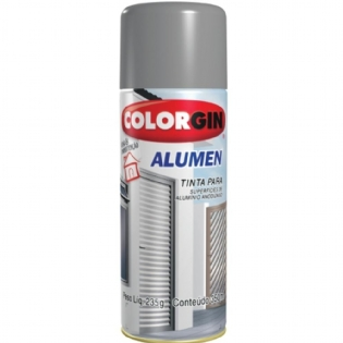 Tinta Spray Alumen Aluminio 350ml Colorgin 770