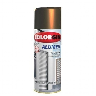Tinta Spray Alumen Bronze Escuro 350ml Colorgin 772