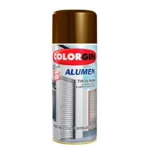 Tinta Spray Alumen Bronze Claro 350ml Colorgin 771