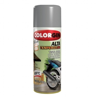 Tinta Spray Alta Temperatura Aluminio 300ml Colorgin 5723