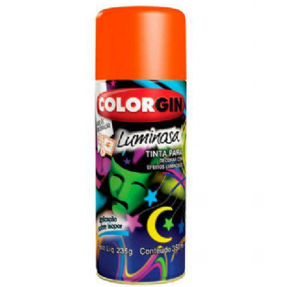 Tinta Spray Luminosa 350ml Laranja 759 Colorgin
