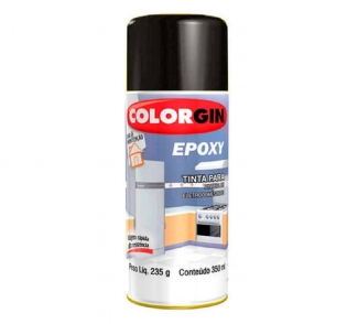 Tinta Spray Epoxy Preto 350ml Colorgin 853