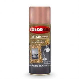 Spray Colorgin Metallik 350ml Rose Gold 56 Interior