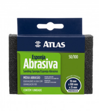 Esponja Abrasiva Media Ref. 50/100 Atlas